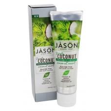 Jason Simply Coconut spēcinoša zobu pasta ar kokosriekstu eļļu un piparmētru, 119g
