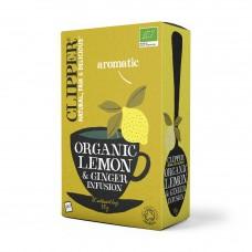 Clipper BIO tēja ar citronu un ingveru, 20pac./50g