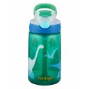 Contigo Gizmo Flip ūdens pudele ar salmiņu bērniem Jungle Green Dino, 420ml