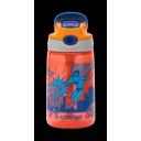 Contigo Gizmo Flip ūdens pudele ar salmiņu bērniem Nectarine with Superhero, 420ml