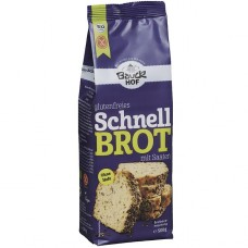 Bauckhof BIO bezglutēna ātrās maizes maisījums ar sēklām, 500g