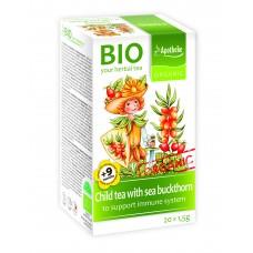 Apotheke BIO tēja bērniem ar smiltsērkšķi no 9 mēn., 20gab x 1,5g