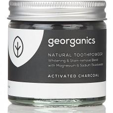 """Georganics zobu pulveris, baltinošs, """"Aktivētā ogle"""", 60ml"""