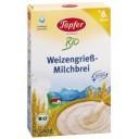 Topfer BIO kviešu mannas piena biezputra no 6. mēn., 200g