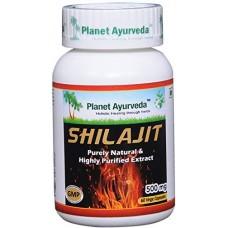 Planet Ayurveda uztura bagātinātājs Shilajit (mūmijs), 60kaps.