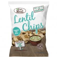 Eat Real lēcu čipsi ar dillēm, 113g