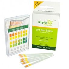 Simplex Health pH līmeņa testa strēmeles (siekalām vai urīnam), 100 gab.
