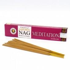 Vijayshree Golden Nag smaržkociņi Meditācija, 15g