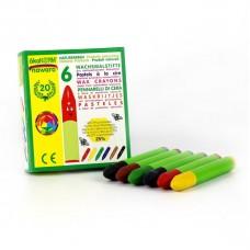 Okonorm vaska krītiņi zīmēšanai dažādās krāsās, 6gb.