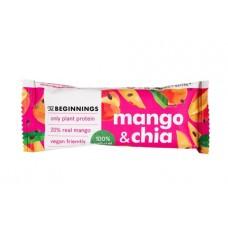 The Beginnings proteīna batoniņš ar mango un čia sēklām, 40g