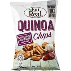 Eat Real kvinojas čipsi ar saulē kaltētiem tomātiem un grauzdētiem ķiplokiem, 30g