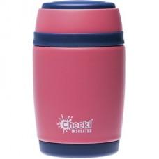 Cheeki tērauda pārtikas termokonteineris Dusty Pink, 480ml