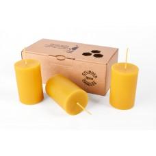 Emīlijas Bišu Vasks Bee Light komplekts bišu vaska cilindrs 42x65 mm, 3gb.