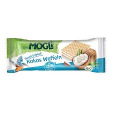 Mogli BIO vafeles ar kokosriekstu krēma pildījumu, 15g