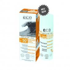 Eco Cosmetics Surf & Fun viegli tonējošs saules aizsargkrēms ar SPF 50+, 75ml
