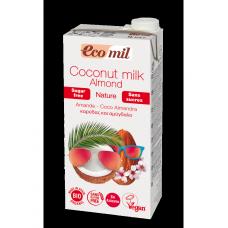 Ecomil BIO kokosriekstu piens bez cukura ar mandelēm, 1l