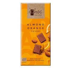 Vivani iChoc BIO vegānā šokolāde ar apelsīniem un mandelēm, 80g