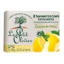 Le Petit Olivier pīlinga ziepes ķermenim ar citronu miziņu pulveri, 2 x 100g