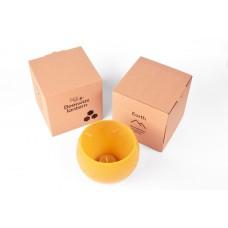 Emīlijas Bišu Vasks bišu vaska lukturis kartona kastītē Zeme, 14cm