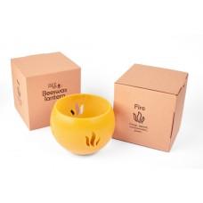 Emīlijas Bišu Vasks bišu vaska lukturis kartona kastītē Uguns, 14cm