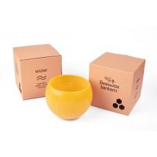 Emīlijas Bišu Vasks bišu vaska lukturis kartona kastītē Ūdens, 14cm