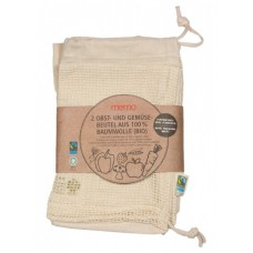 Memo augļu un dārzeņu maisiņi no 100% organiskās kokvilnas, 2gb.