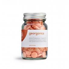 """Georganics zobu tabletes mutes skalošanai """"Apelsīns"""", 180tabl."""
