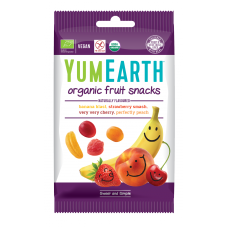 YumEarth BIO želejkonfektes ar dažādu augļu un ogu garšu, 50g