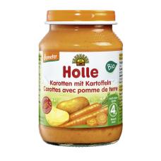 Holle BIO burkānu un kartupeļu biezenis no 4 mēn., 190g