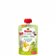 "Holle BIO bumbieru biezenis ar ābolu un fenheli ""Fennel Frog"" no 6 mēn., 100g"
