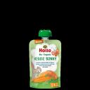 """Holle BIO burkānu un saldo kartupeļu biezenis ar zirņiem """"Veggie Bunny"""" no 6 mēn., 100g"""