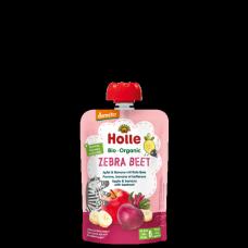 """Holle BIO ābolu un banānu biezenis ar bietēm """"Zebra Beet"""" no 6 mēn., 100g"""