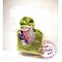 """Baltic Gift Factory aromātiskās koka bumbiņas lina maisiņā """"Lavanda"""", 5 gb."""