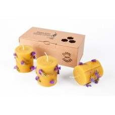 Emīlijas Bišu Vasks Bee Light komplekts bišu vaska ziedu sveces, 3gb.