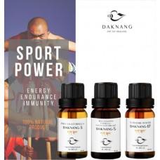 Daknang Sport Power, uztura bagātinātāju komplekts izturībai, enerģijai un imunitātei 3 x 10ml