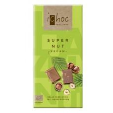 Vivani iChoc BIO vegānā šokolāde ar lazdu riekstiem, 80g