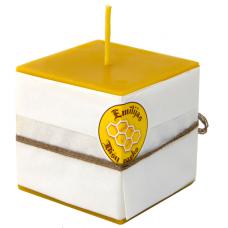 Emīlijas Bišu Vasks bišu vaska kantainā svece 80x80 mm
