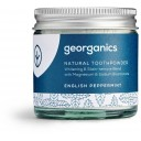 """Georganics zobu pulveris, baltinošs, """"Angļu piparmētra"""", 60ml"""