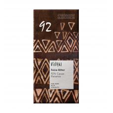 Vivani BIO tumšā šokolāde ar 92% kakao, 80g