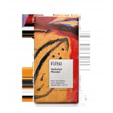 Vivani BIO pilnpiena šokolāde ar veselām mandelēm, 100g