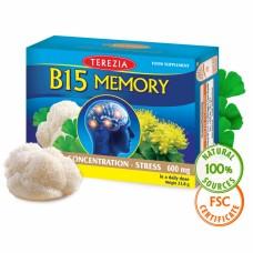 Terezia uztura bagātinātājs smadzeņu darbībai B15 Memory, 60 kaps.