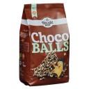 Bauckhof BIO bezglutēna kraušķīgās graudaugu bumbiņas daļēji pārklātas ar šokolādi Choco Balls, 300g