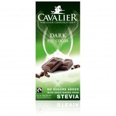 Cavalier tumšā šokolāde (85%) bez cukura, ar stēviju, 85g