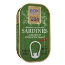 Bon Appetit sardīnes pikantā olīveļļā ar piri-piri garšvielām, 120g