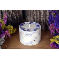 Laureta Candles rapšu vaska svece ar rudzupuķēm un litsea ēterisko eļļu