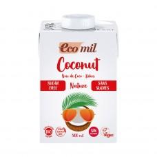 Ecomil BIO bezglutēna kokosriekstu piena dzēriens bez cukura, 500ml