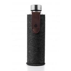 Equa Mismatch stikla ūdens pudele ar filca apvalku Chocolate, 750ml