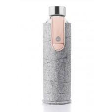 Equa Mismatch stikla ūdens pudele ar filca apvalku Pink, 750ml