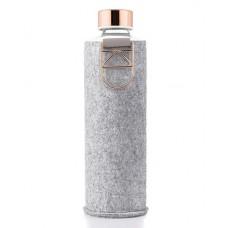 Equa Mismatch stikla ūdens pudele ar filca apvalku Rose Gold, 750ml