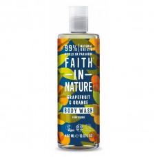 Faith in Nature greipfrūtu / apelsīnu dušas želeja / vannas putas, 400ml